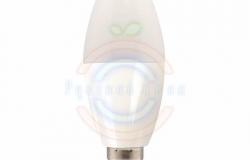 Лампа LED C37 E14, 5W 3000K 420 Lm 220V Premium Lamper