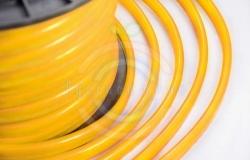 Гибкий неон LED, желтые диоды, оболочка желтая, бухта 50м