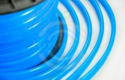 Гибкий неон LED, синие диоды, оболочка синяя, бухта 50м