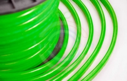 Гибкий неон LED, зеленые диоды, оболочка зеленая, бухта 50м
