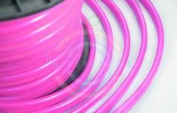 Гибкий неон LED, розовые диоды, оболочка розовая, бухта 50м