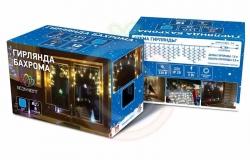 Гирлянда светодиодная бахрома «Айсикл», 1,8х0,5м, прозрачный провод, 230 В, диоды мульти