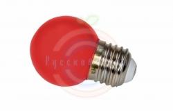 Лампа шар e27 3 LED Ø45мм - красная