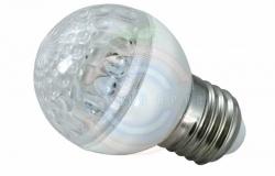 Лампа шар e27 10 LED Ø50мм желтая 24В