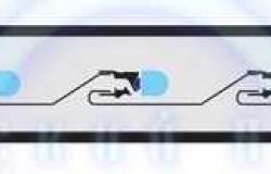 Дюралайт LED, эффект мерцания (2W) - синий, 36 LED/м, бухта 100м