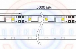LED лента открытая, 8мм, IP23, SMD 3528, 60 LED/m, 12V, тепло-белая