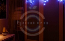 Гирлянда светодиодная бахрома «Айсикл», 1,8х0,5м, прозрачный провод, 230 В, диоды синие