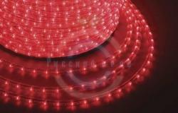 Дюралайт LED (светодиодный), свечение с динамикой (3W) - красные, 24 LED/м, бухта 100м